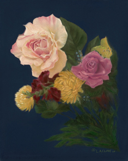 """Flowers in Paradise"" Pastel Painting by L.A. CLINE"
