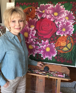 L.A. CLINE Fine Art - Unique Flowers Art