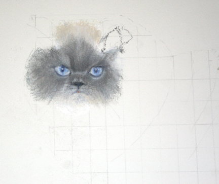 What is it like to Commission a Masterpiece Work of Art? The beginning of a Pet Portrait.