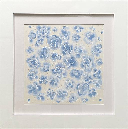 Flower Painting in Blue
