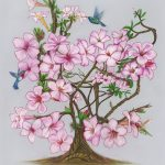 bliss floral painting desert rose