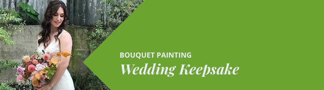 Bouquet Painting Wedding Keepsakes