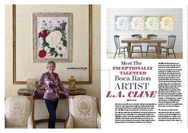 L.A. CLINE featured in Palm Beach's Spotlight Magazine